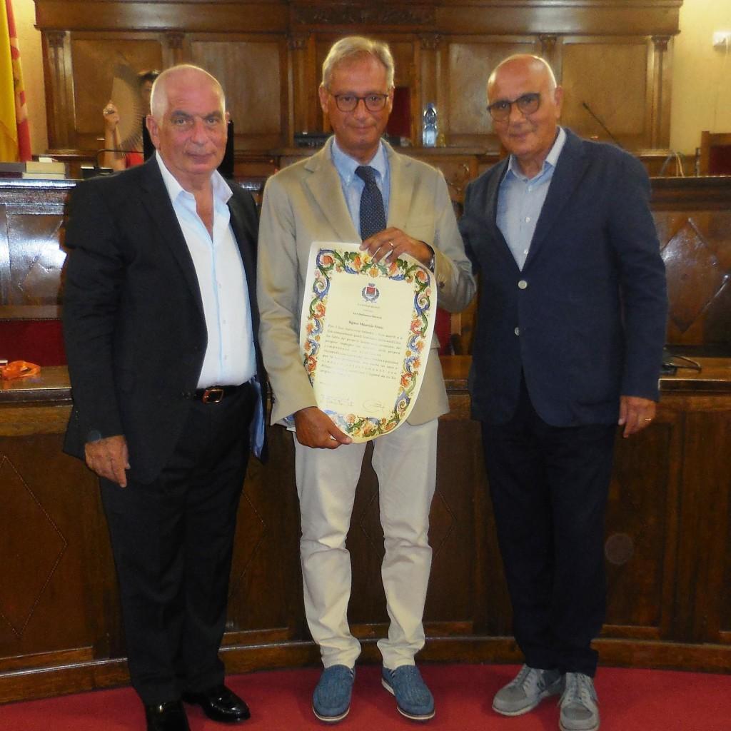 Conferita la cittadinanza onoraria al Professore Maurizio Giuseppe Vento