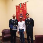 Il comandante del nucleo operativo dei Carabinieri va in pensione. Il saluto del sindaco di Milazzo
