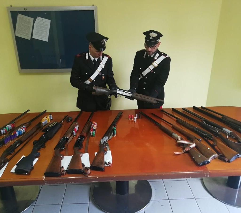 Alì Terme (ME): Contrasto alla caccia di frodo. Tre persone arrestate dai Carabinieri per porto abusivo di armi clandestine e munizioni ed altre sette denunciate all'Autorità Giudiziaria