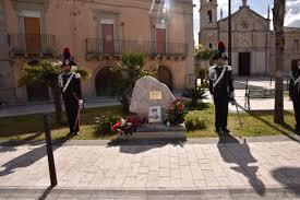 San Filippo Del Mela (ME): 15 febbraio 2020. Commemorazione del 28° anniversario della morte del Carabiniere M.O.V.M. Fortunato Arena