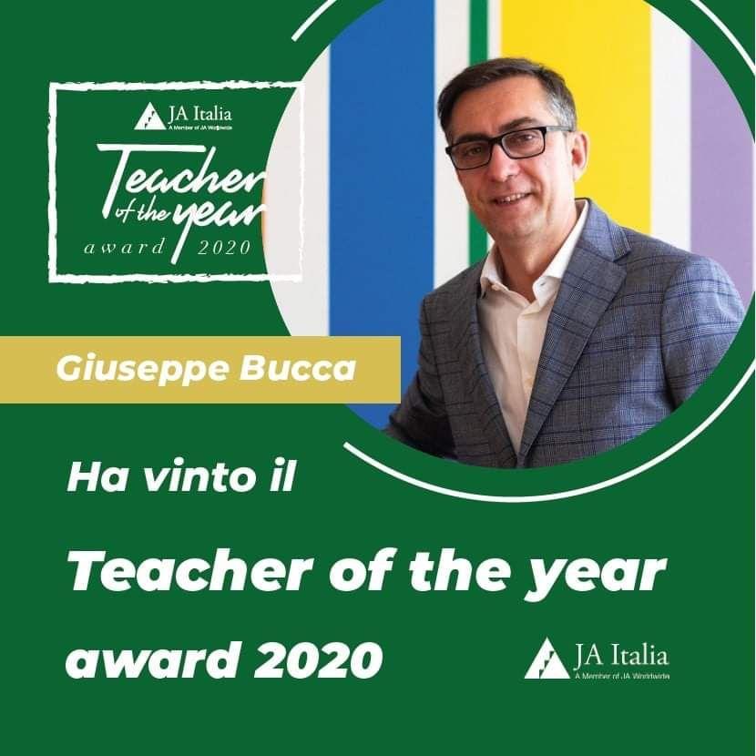 LA NOMINA del professor Giuseppe Massimo Bucca del majorana di Milazzo a JA Teacher of the Year 2020
