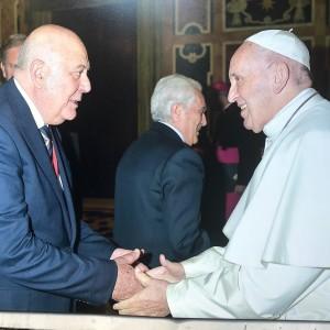 papa Francesco e Attilio Andriolo