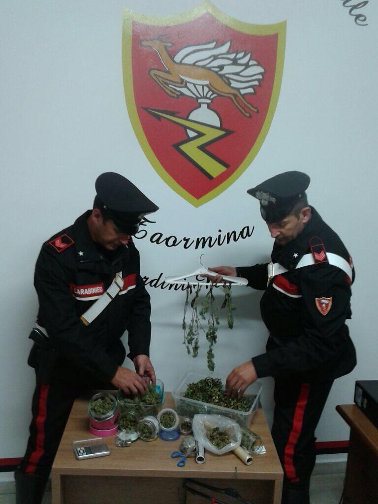 Giardini Naxos/Furci Siculo: Controlli dei Carabinieri nel fine settimana. 4 arresti per droga ed armi